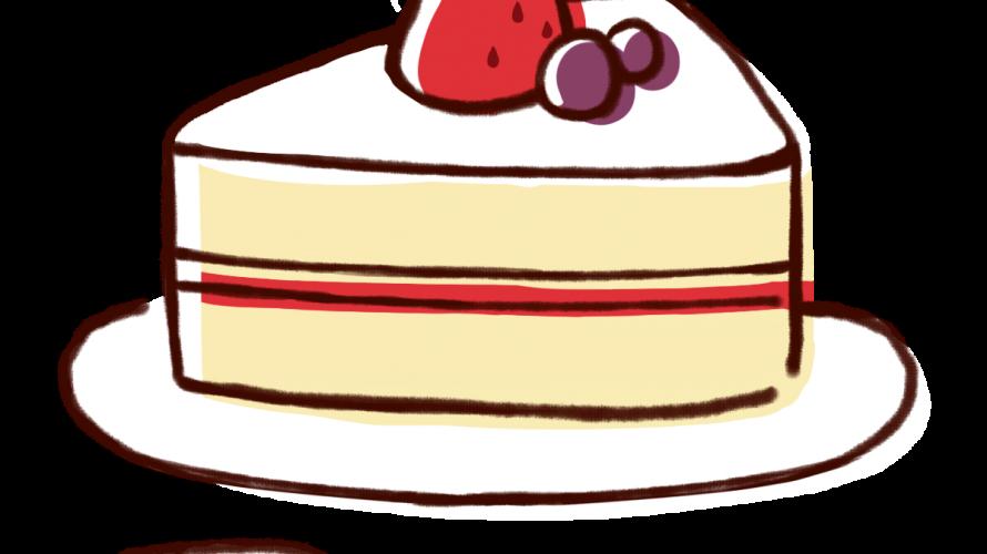 おしゃれなテーブルでカイセイセイカのケーキを食す